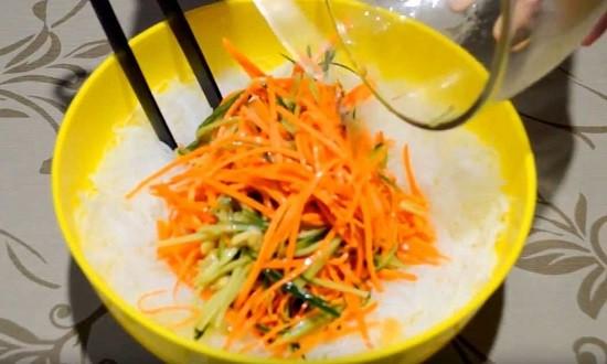 добавить овощи