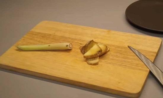 нарезать лимонграсс