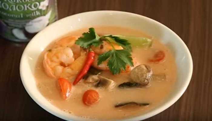 Суп Том Ям с основой из пакетика
